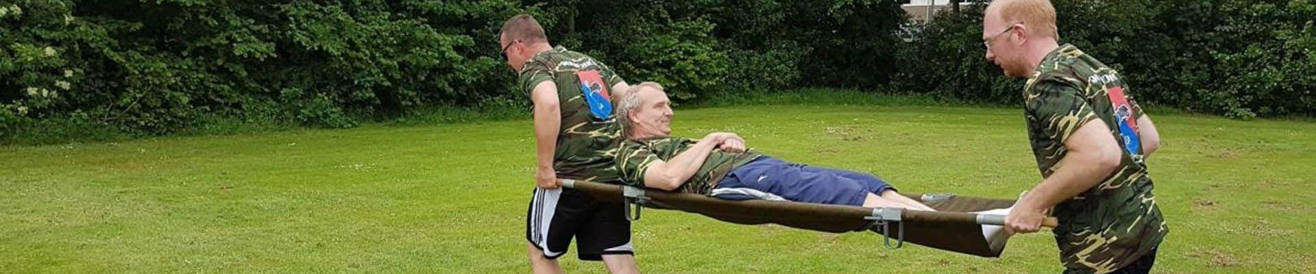 brancard race teambuilding activiteit